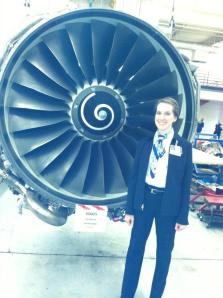 standing next to a powerful jet engine! I love my job!